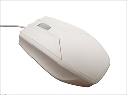 Used for Infection Control & Equipment Protection, the Washable Medical Optical Scroll Mouse EK-PM-W can be cleaned by washing with soap and water, sanitized or disinfected.