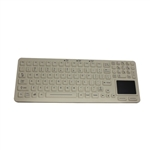 Used for Infection Control & Equipment Protection, the Waterproof Keyboard with Touchpad EKS-97-TP-W can be cleaned by washing with soap and water, sanitized or disinfected.