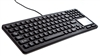 Used for Infection Control & Equipment Protection, the Backlit Waterproof Keyboard with Touchpad EKSB-97-TP can be cleaned by washing with soap and water, sanitized or disinfected.