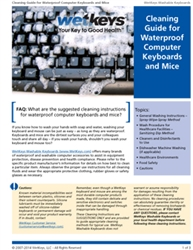 Free Cleaning Guide for Waterproof Computer Keyboards and Mice by WetKeys Washable Keyboards for Medical, Dental, Industrial and Food Manufacturing