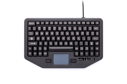 iKey Full-travel Keyboard attachment versatility (USB) (Black) | IK-TR-911-RED