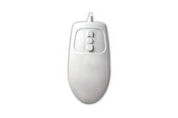 Used for Infection Control & Equipment Protection, the Mighty-Mouse-5 Full-size 5-Button MagFix Mouse MM-MAG-W5-LT can be cleaned by washing with soap and water, sanitized or disinfected.