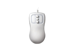 Used for Infection Control & Equipment Protection, the Petite-Mouse Compact Optical 5-Button Mouse PM-W5-LT can be cleaned by washing with soap and water, sanitized or disinfected.