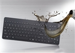 Used for Infection Control & Equipment Protection, the Really-O-Cool Oil Resistant Waterproof Keyboard  ROC-B5 can be cleaned by washing with soap and water, sanitized or disinfected.