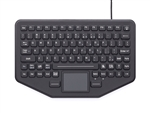 iKey Ultra-thin mobile Keyboard VESA Mounting pattern. Red Backlighting. USB cable. (USB) (Black) | SB-87-TP-M-USB