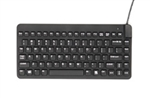 Used for Infection Control & Equipment Protection, the Slim-Cool-Low-Profile Small-Footprint Keyboard SCLP-B5 can be cleaned by washing with soap and water, sanitized or disinfected.