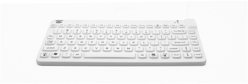 Used for Infection Control & Equipment Protection, the Slim-Cool-LP Small-Footprint Backlit Keyboard SCLP-BKL-W5 can be cleaned by washing with soap and water, sanitized or disinfected.