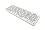 Used for Infection Control & Equipment Protection, the SterileFLAT Antibacterial Wireless Medical Keyboard | SF09-02w-v4 can be cleaned by washing with soap and water, sanitized or disinfected.