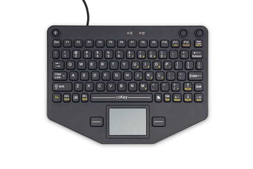 iKey Compact Mobile Keyboard Touchpad (USB) (Black) | SL-80-TP-USB