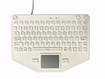 iKey Compact Mobile Keyboard Touchpad White (USB) (White) | SL-80-TP-USB-WHT