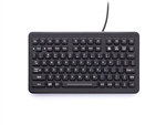iKey Compact Backlit Industrial Keyboard (PS2) (Black) | SL-88-PS2