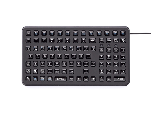 iKey Small Footprint Epoxy Keycaps (PS2) (Black) | SL-91-PS2