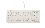 iKey SlimKey Cleanable Sealed Medical Keyboard (USB) (White) | SLK-101-FL-WHITE-USB