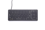 iKey SlimKey Backlit Industrial Keyboard  (PS2) (Black) | SLK-101-PS2