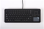 iKey SlimKey Backlit Mobile Keyboard Touchpad (PS2) (Black) | SLK-102-M-TP-PS2