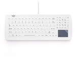 iKey SlimKey Cleanable Sealed Medical Keyboard Touchpad (USB) (White) | SLK-102-TP-FL-WHITE-USB