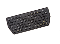Used for Infection Control & Equipment Protection, the Compact Backlit Industrial Keyboard SLK-77-M-USB can be cleaned by washing with soap and water, sanitized or disinfected.