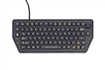 iKey Compact Mobile Backlit Keyboard w/Force Sensing Resistor &Mounting Holes (USB) (Black) | SLK-79-FSR-M-USB
