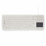 iKey SlimKey Backlit Keyboard Touchpad White (PS2) (White) | SLK-97-TP-PS2