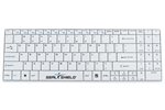 Clean-Wipe Medical Grade Chiclet International Keyboard, Detachable Cord, Waterproof, Antimicrobial Product Protection, Israel / Hebrew QWERTY (ISO) (USB) (White) | SSKSV099IL