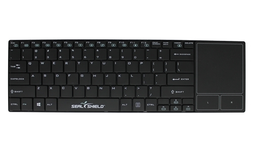 Used for Infection Control & Equipment Protection, the Clean-Wipe Medical Keyboard with Touchpad SSKSV099P can be cleaned by washing with soap and water, sanitized or disinfected.