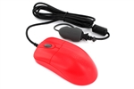 Used for Infection Control & Equipment Protection, the Silver-Storm Washable Red Medical Optical Mouse STM042RED can be cleaned by washing with soap and water, sanitized or disinfected.