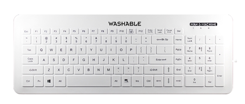 Used for Infection Control & Equipment Protection, the  Very-Cool Keyboard VC/W5 can be cleaned by washing with soap and water, sanitized or disinfected.