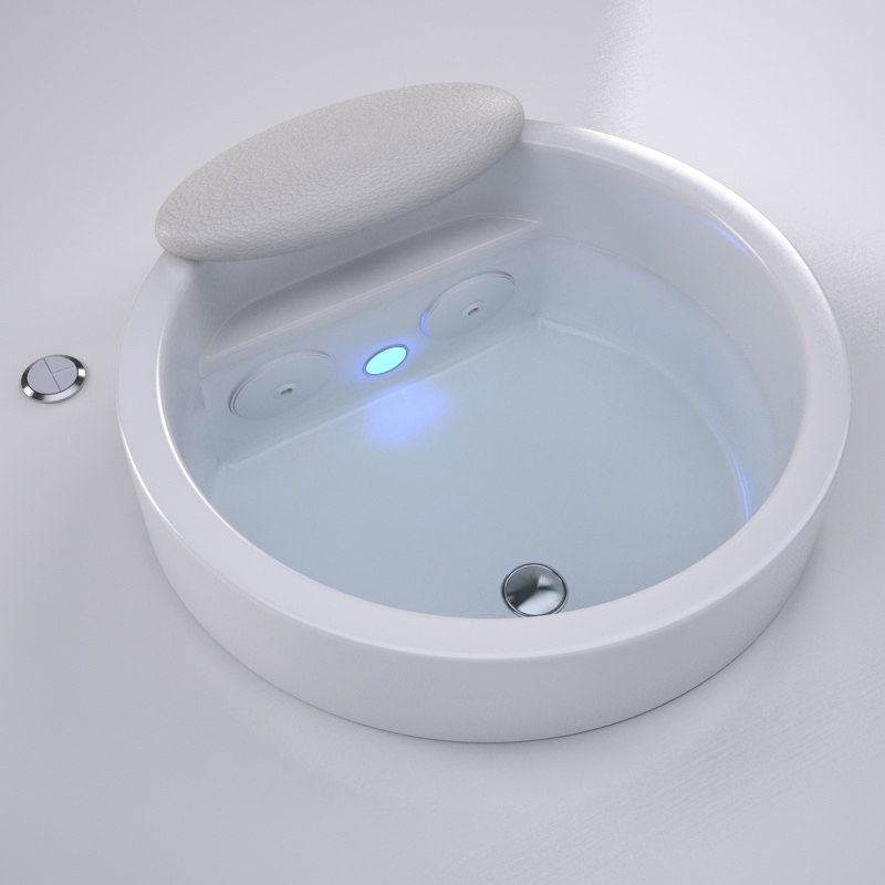 pedicure bowls with plumbing