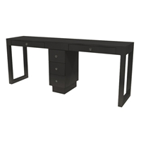 Linea Double Manicure Table - Three Drawers