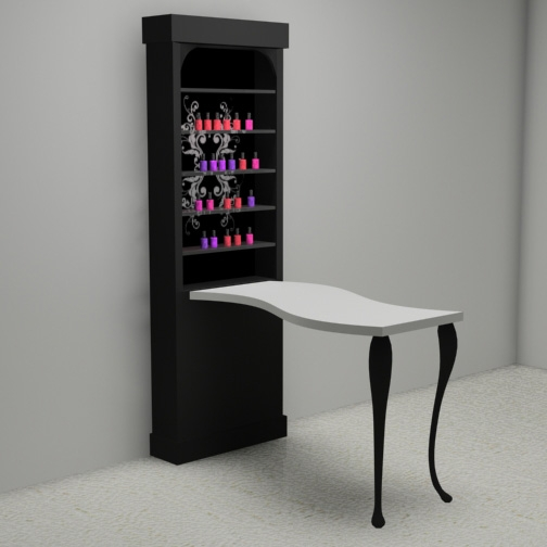 Tulle manicure table for Unique manicure tables