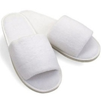 Terry Open Toe Slippers