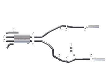Magnaflow Exhaust System Dual Split Side Exit Catback SC/SB Toyota Tundra 2007-2008 5.7L V8, MFE-16775