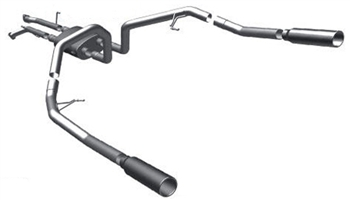 Magnaflow Exhaust System Dual Split Side Exit Catback EC Toyota Tundra 2007-2009 4.7L V8, MFE-16879