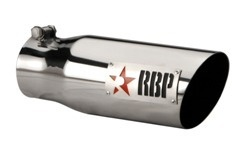 "RBP TIP 3.5"" TO 4.5"" X 12""L 304 SS TIP, TWO TONE LOGO W/RED STAR RBP-35452R"