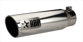 "RBP TIP 4"" TO 5"" X 18""L STAINLESS STEEL TIP, TWO TONE LOGO RBP-45002D"