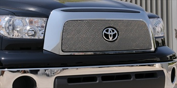 T-Rex Mesh Grille Toyota Tundra Sport Series Formed Mesh Grille - Stainless Steel - Triple Chrome Plated Open Logo T-REX-44960
