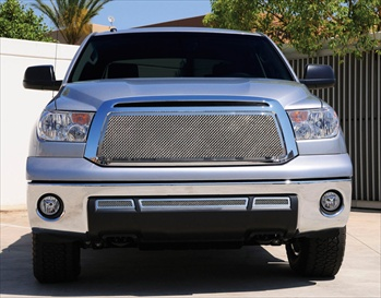 T-Rex Billet Grille Toyota Tundra (Except Limited) Upper Class Chrome Polished Stainless Mesh Grille - Insert (No Logo) T-REX-54963