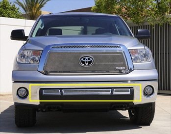T-Rex Mesh Grille Toyota Tundra (Except Limited) Upper Class Mesh Stainless Bumper - 3 Pc T-REX-55961