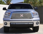 T-Rex Mesh Grille Toyota Tundra (Except Limited) X-METAL Series - Studded Main Grille - Chrome Polished SS T-REX-6719630