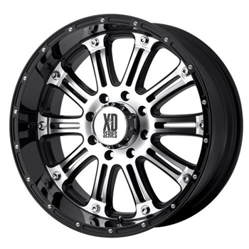 XD775 Hoss Black & Machined 20x8.5