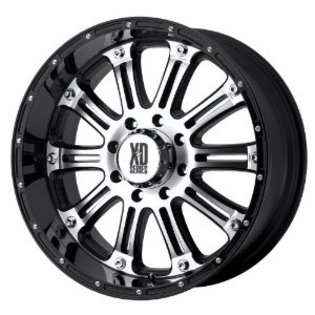 XD795 Hoss Black & Machined 18x9