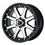 XD798 Addict Black & Machined 20x9