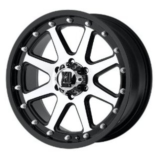 XD798 Addict Black & Machined 18x9