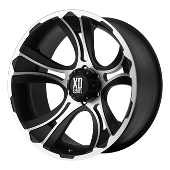XD801 Crank Black & Machined 18x9