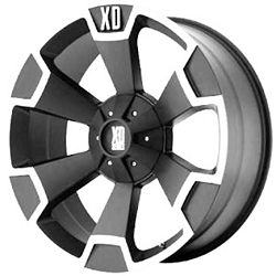XD803 Thump Black & Machined 18x9