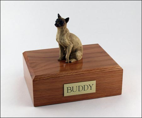 Tan Siamese Cat Urn