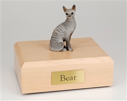 Blue Cornish Rex Cat Urn