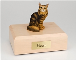 Brown Tabby Maine Coon Cat Urn