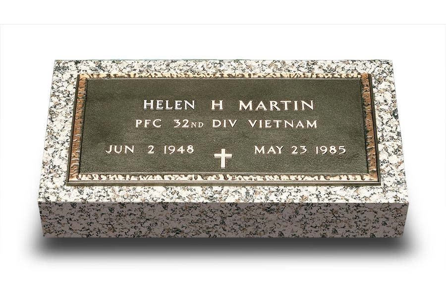 Bronze Military Grave Markers For Military Veterans