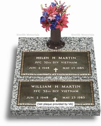Double Depth Bronze Veteran Headstones For War Heroes